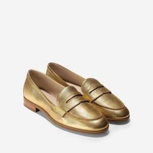 Cole Haan Gold Pinch Grand Penny Loafer 7B